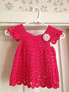 I Sarikumar Am Posting This Pattern As I Didn T Find It On Ravelry Crochet Baby Dress Pattern Crochet Baby Clothes Crochet Girls Dress Pattern