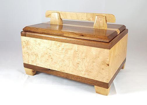 Handmade Wooden Keepsake Box Mens Valet Box Jewelry Box Treasure