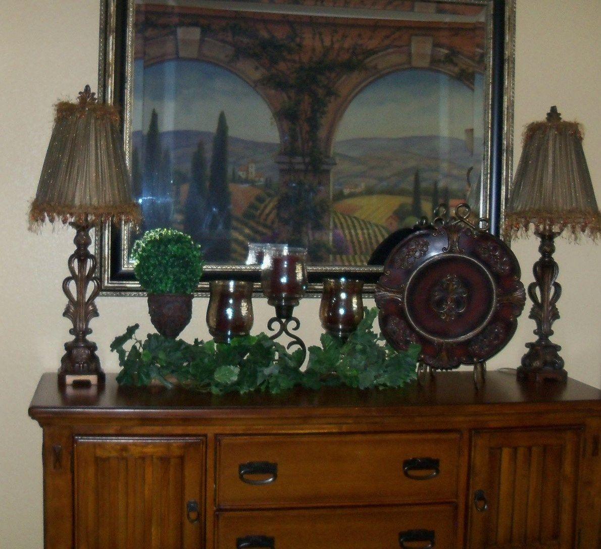 My Dining Room Buffet Tuscan Decor