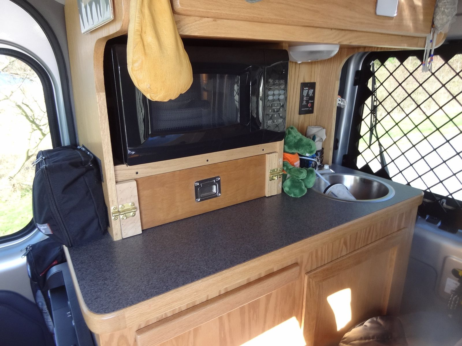 Ford transit connect camper conversion like the pull out table in the sideboard