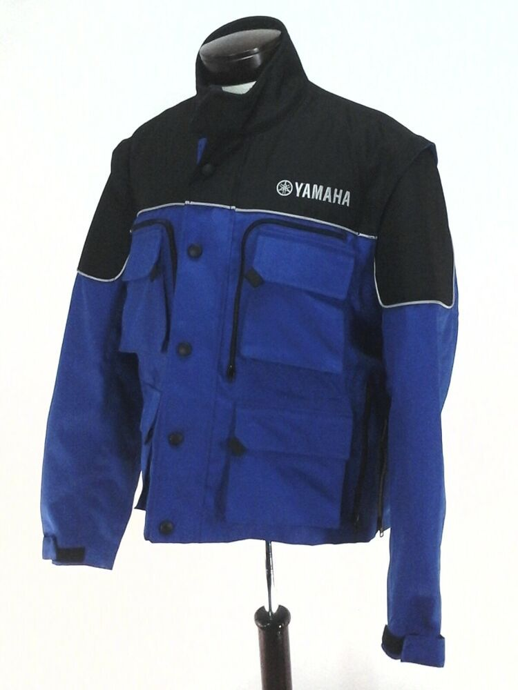 fa4d53b2 eBay #Sponsored YAMAHA Motorcycle Racing Jacket/Vest Convertible Waterproof  Blue Black Padded M
