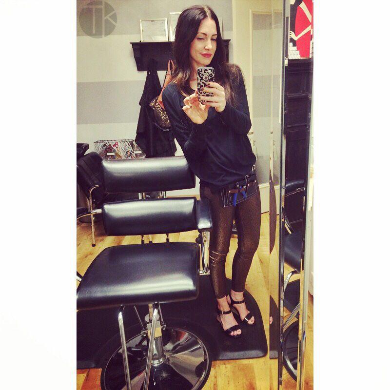 Wearing & LOVING my #tktoolbelt today! ❤️#topknotextensions #tkcountdown2015 #tkhair #behindthechair #hairextensions #hair #hairstylist #tktools #gilbertaz
