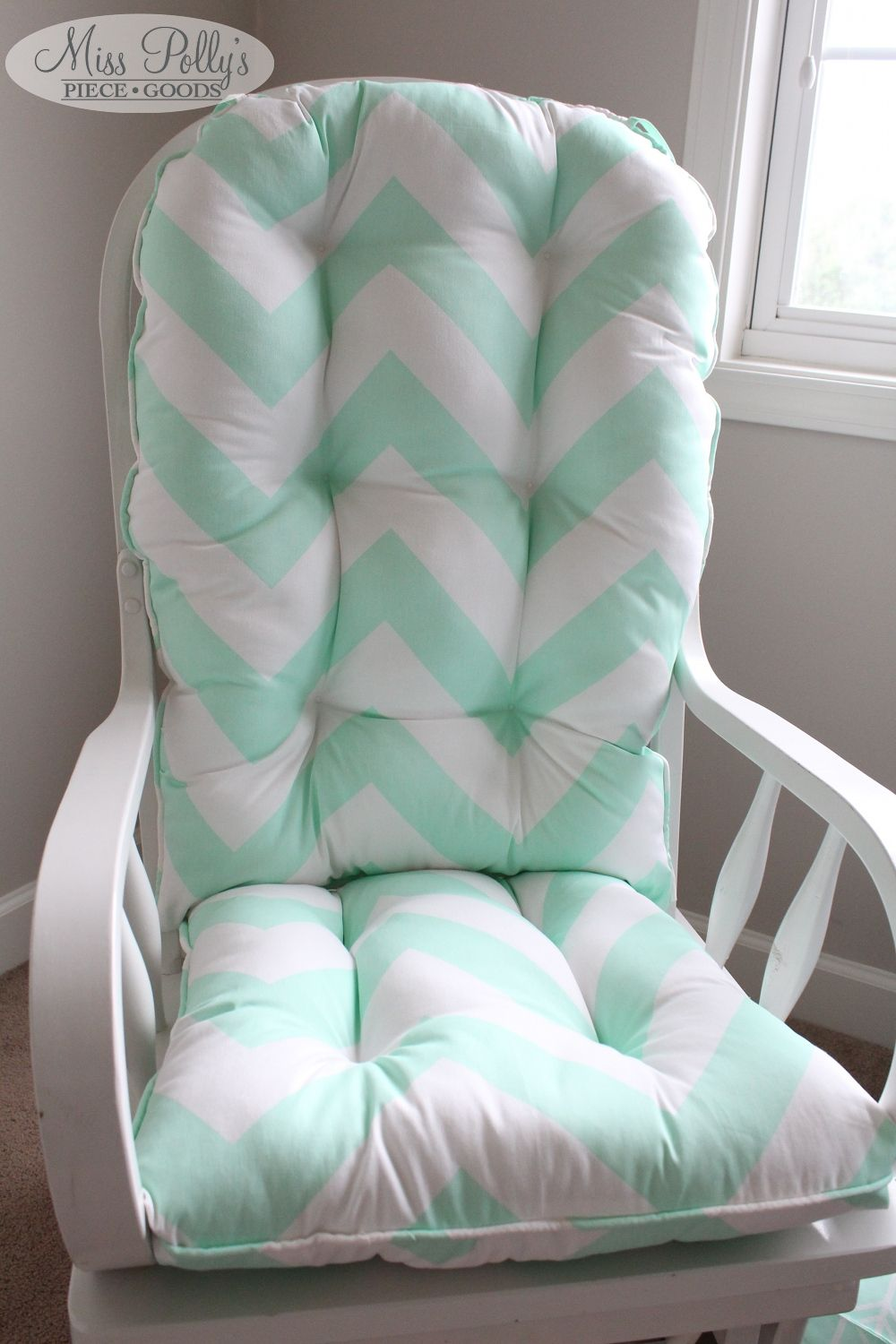 Nursery Rocking Chair Cushions Uk Baby High Tray Pin By Mommy Of 4 Brittany Henderson On Home Is Where The Heart Mint Chevron Glider Misspollyspiecegoods Https Www Etsy