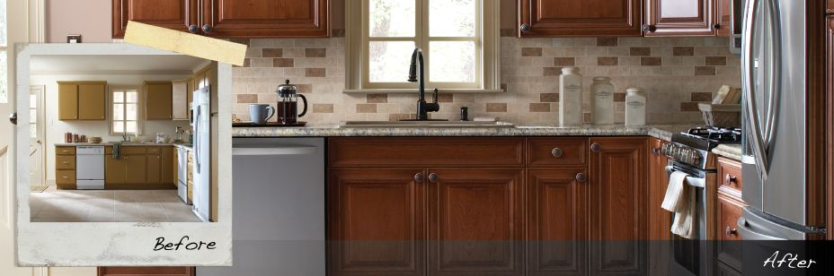 Kitchen Cabinet Refacing Refinishing Resurfacing Kitchen Cabinets The Home De Kitchen Cabinets Home Depot Home Depot Kitchen Resurfacing Kitchen Cabinets