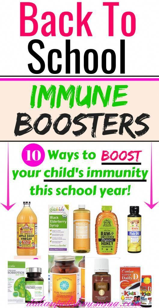 Back to school immune boosters for kids!