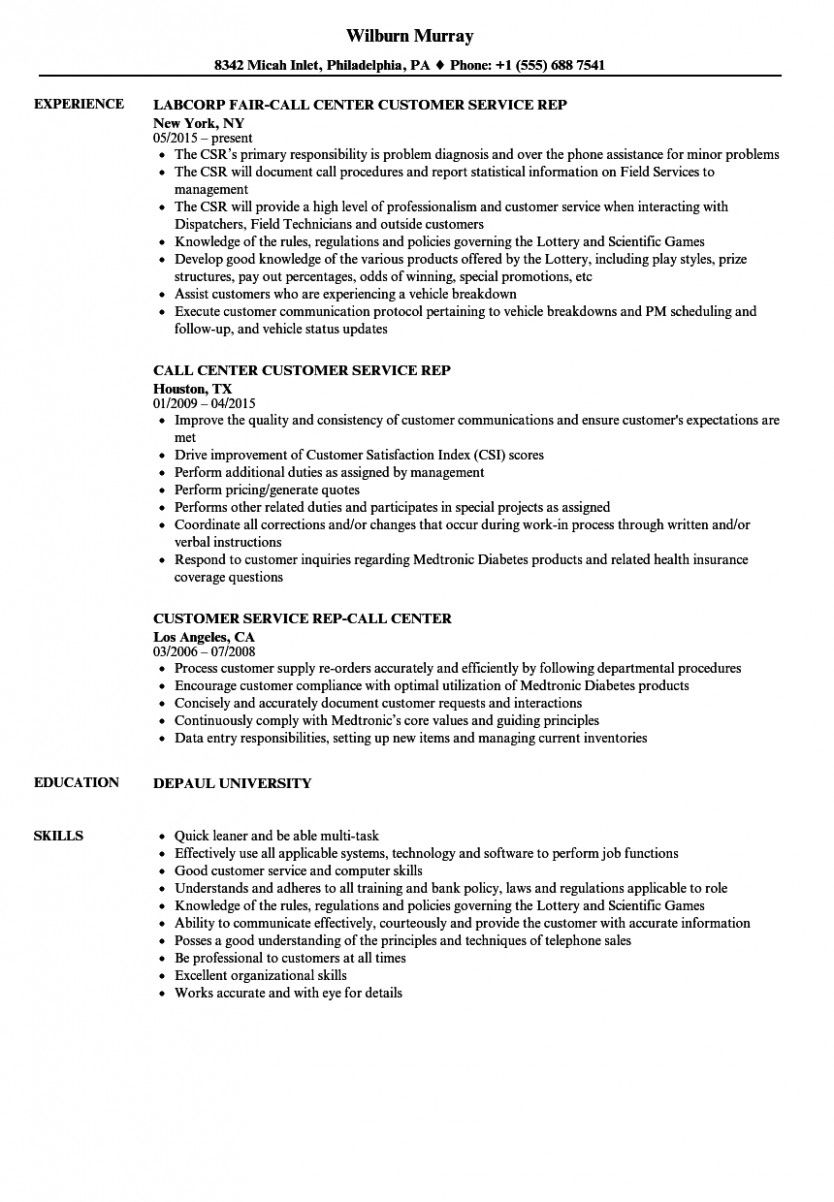 11 Buyer Service Resume Pattern 11 Customer Service Resume