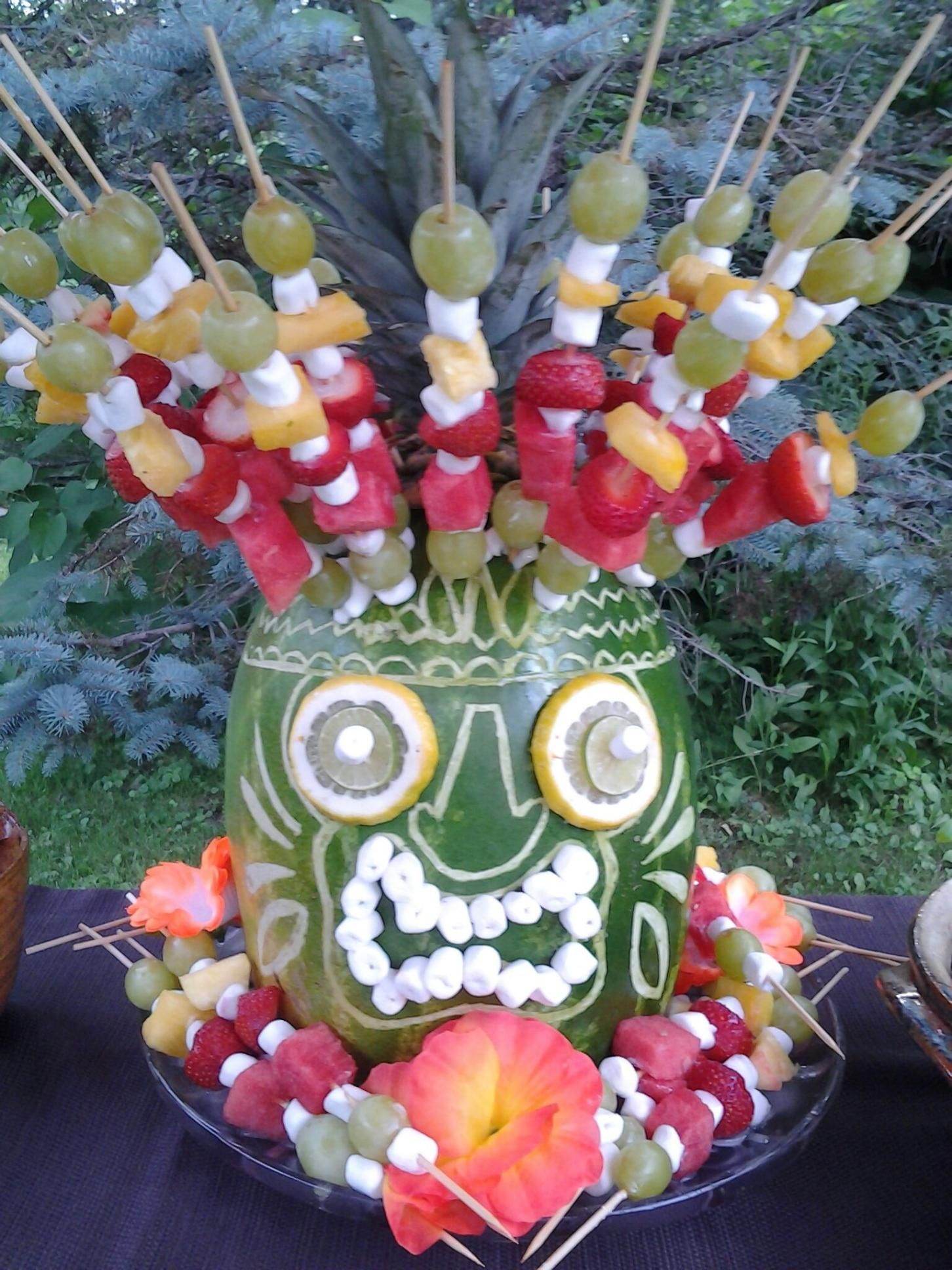 I want to create this for our first backyard luau. I think ...