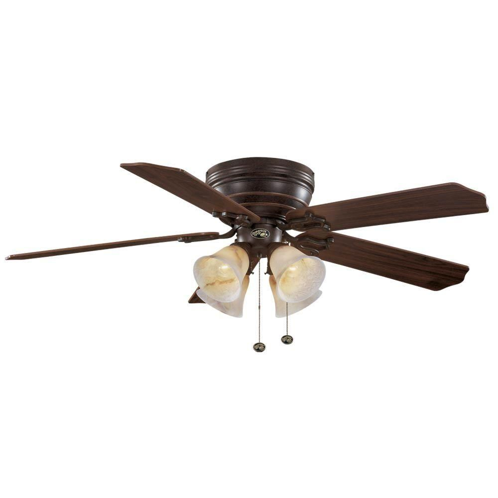 Hampton Bay Carriage House 52 In Indoor Iron Ceiling Fan 46011 The Home Depot Ceiling Fan Ceiling Fan With Light Fan Accessories