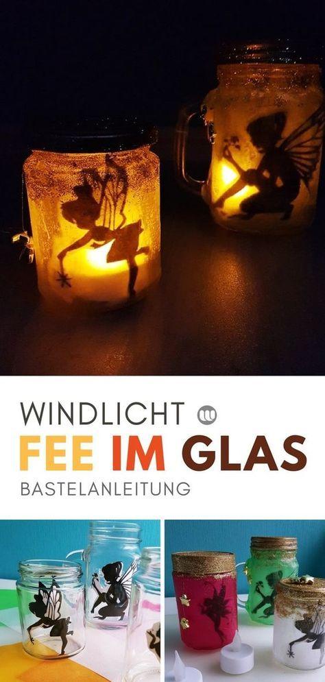"""Magische Feenlaterne: """"Fee im Glas"""" basteln mit Kindern #laternebasteln"""