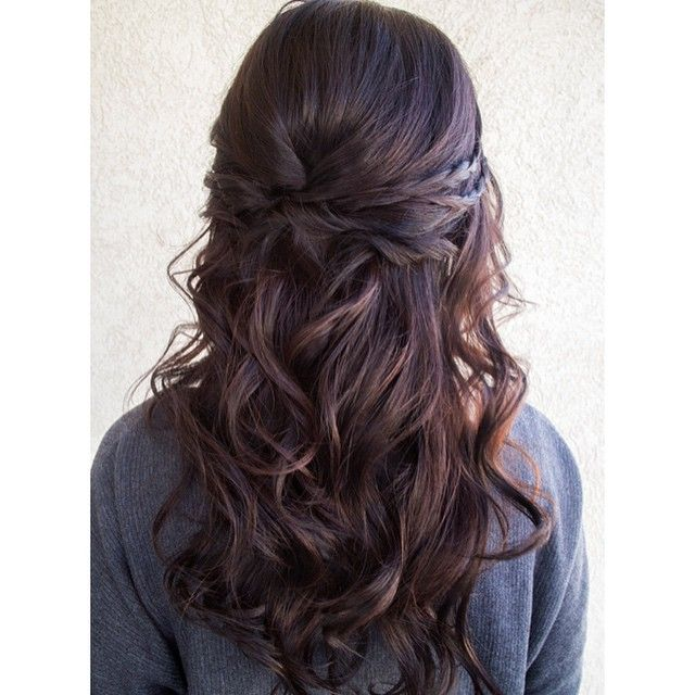 pretty curl with braid