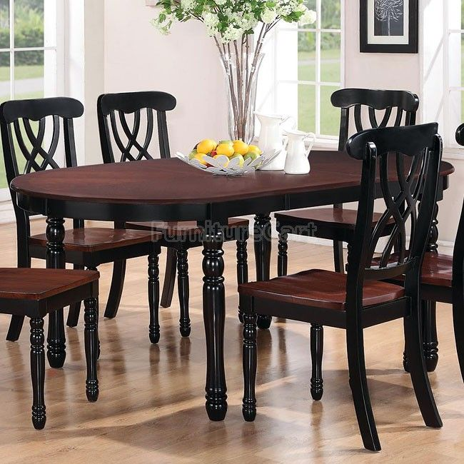 Addison Oval Dining Table Black