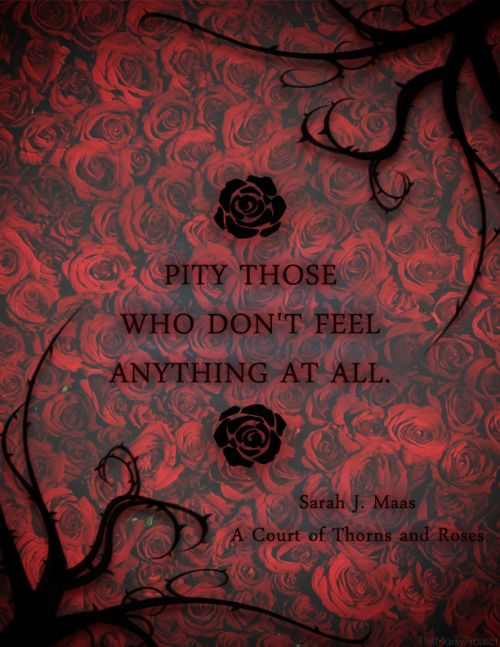Pity Those Who Don T Feel Anything At All Sarah J Maas