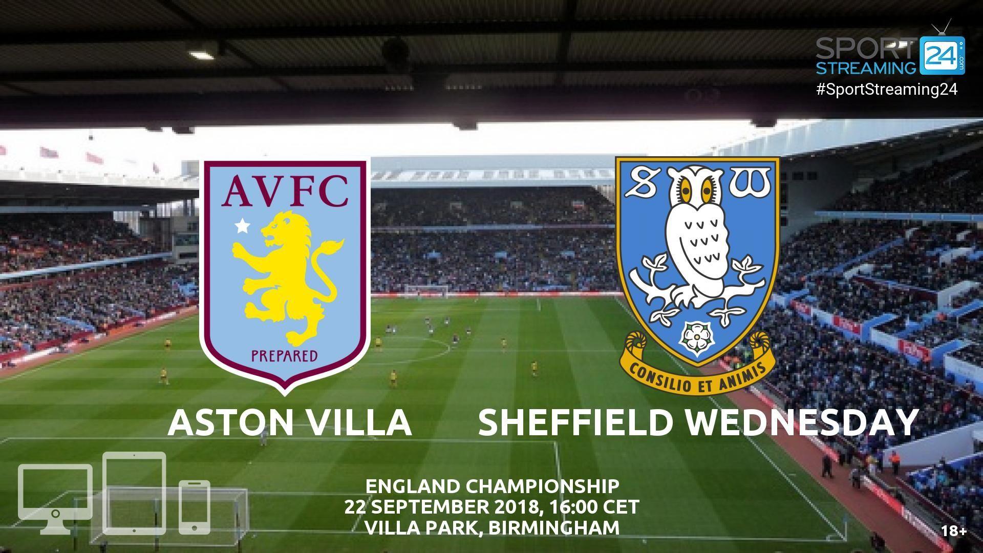 Aston Villa V Sheff Wed Live Streaming Football Aston Villa Streaming Live Streaming