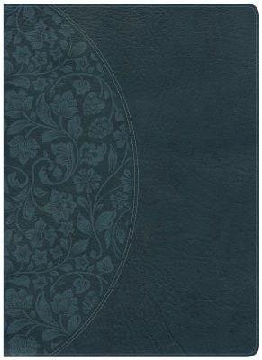 KJV Study Bible Large Print Edition, Dark Teal LeatherTouch