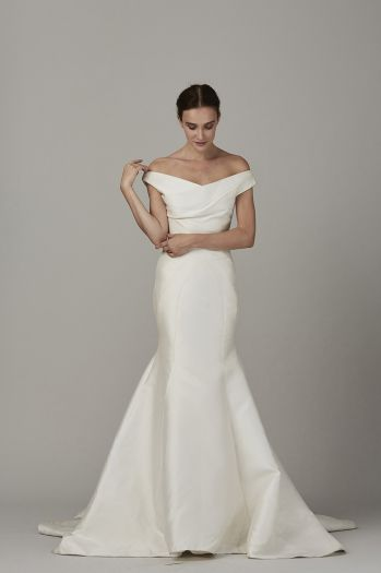 The Coast By Lela Rose Bridal Love Full Skirt That Still Falls Like A Pencil Worry Shoulders Might Make Me Look Too Wide And Be Low For