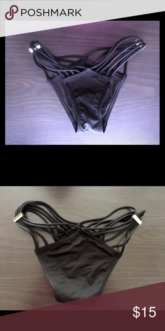 366f493a49442 VICTORIAS SECRET // Black // Strappy // Bikini VICTORIAS SECRET ...