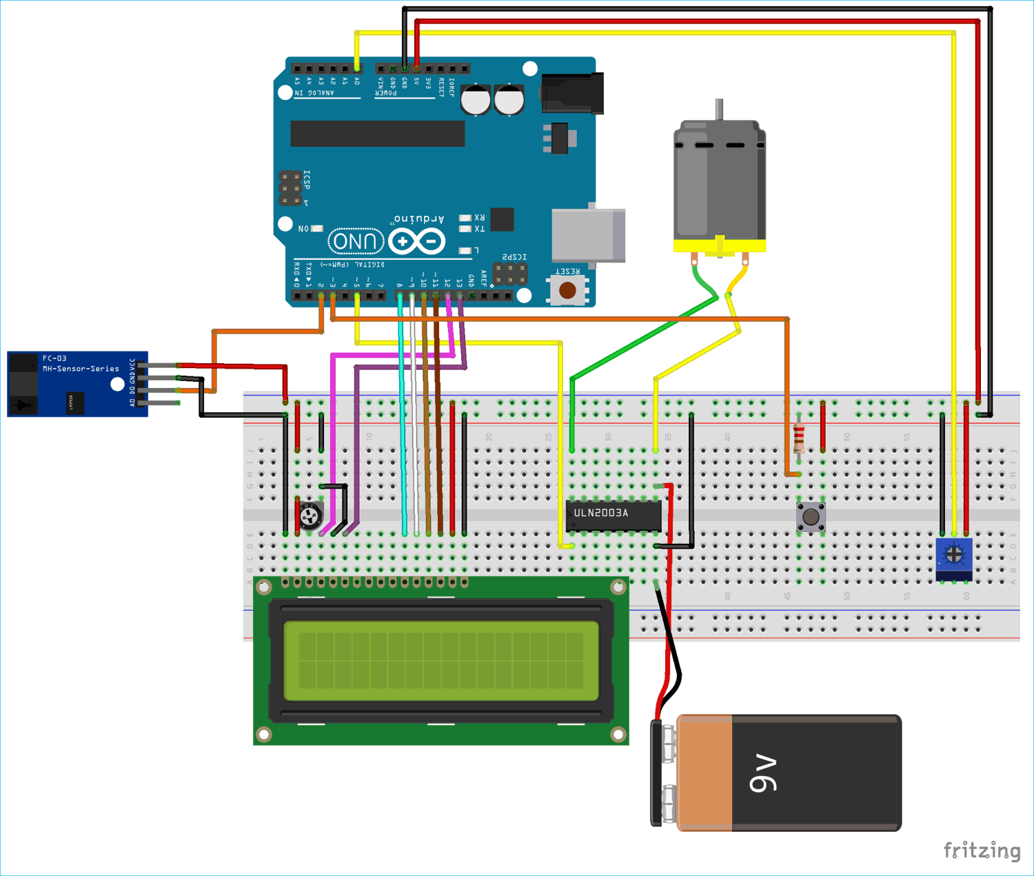 Circuit Diagram for Digital Taxi Fare Meter using Arduino | Arduino