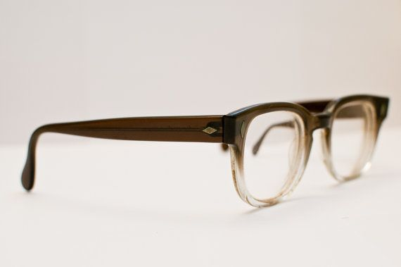 638095e9f3 vintage 1960s mens two toned glasses by jenericvintage.