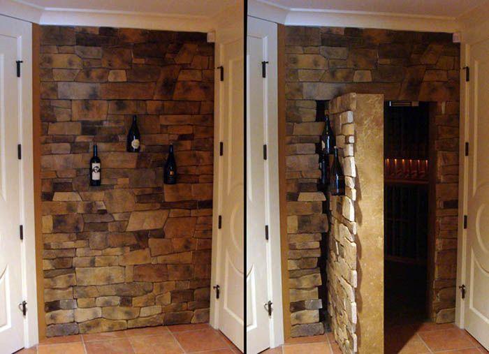 Дверь в декоративной стене