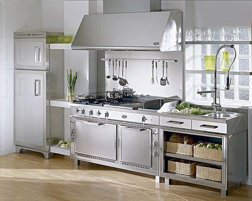 Cocinas Modernas Acero Inoxidables La Utilizacion Del Acero