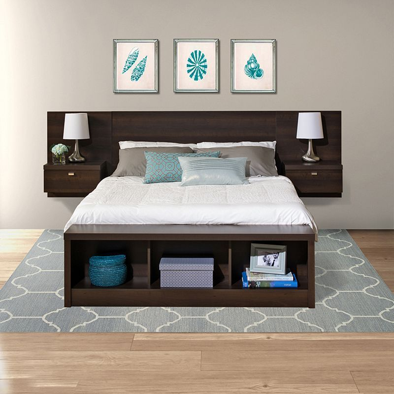 Prepac Series 9 Designer Floating Headboard - Queen in 2018 House
