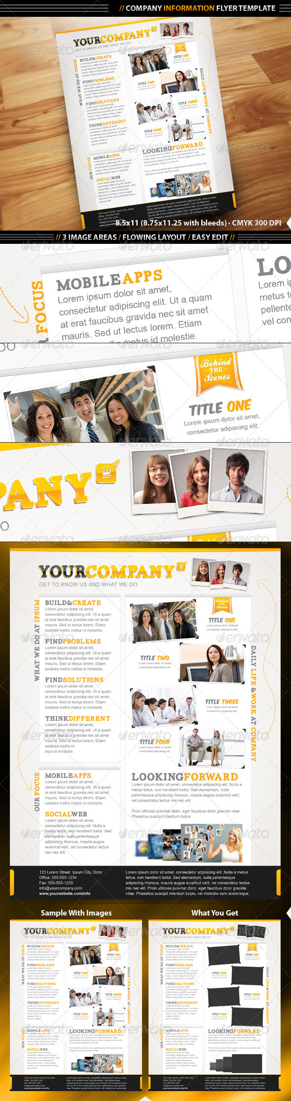 company info flyer template flyer template template and print