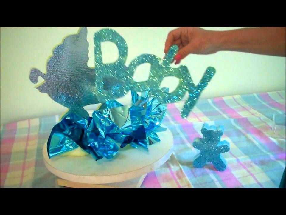 Baby Shower Centerpiece Ideas  Styrofoam Letters Styrofoam Shapes
