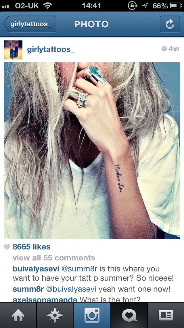 9b6541c45f7f7 Outside wrist, tattoo, elegant | Script & Quotes | Wrist tattoos ...