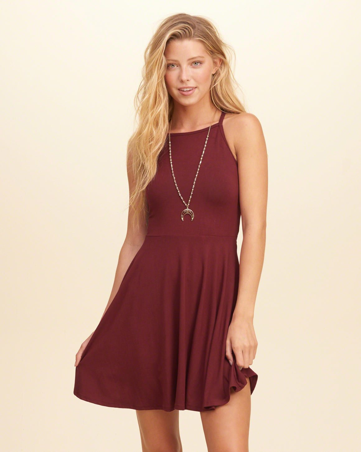 a1ee24f121 A super cute fit-and-flare dress with a high neck