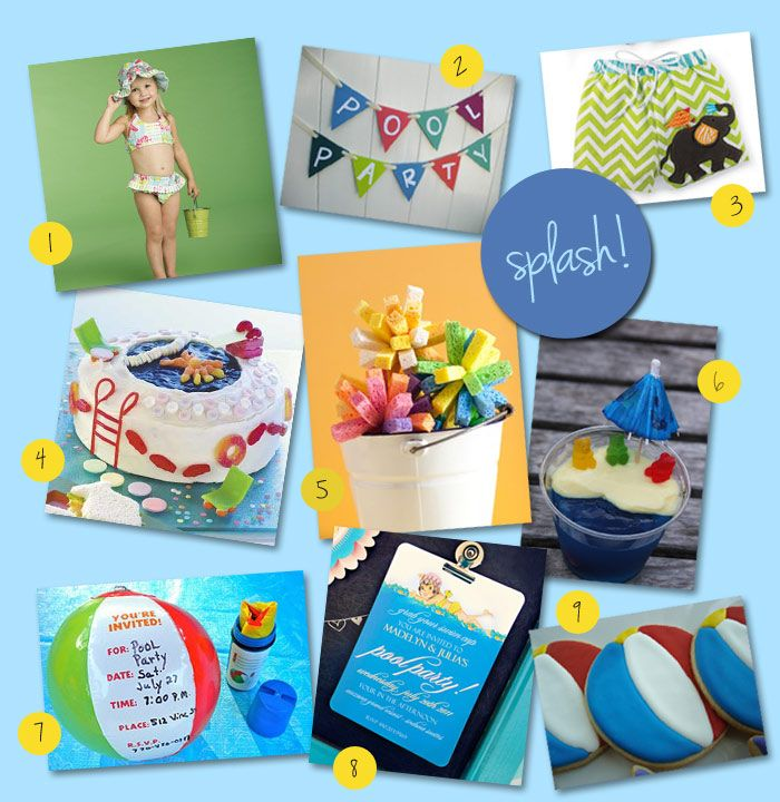 Pool Party Birthday Party Idea : Corner Stork Baby Blog