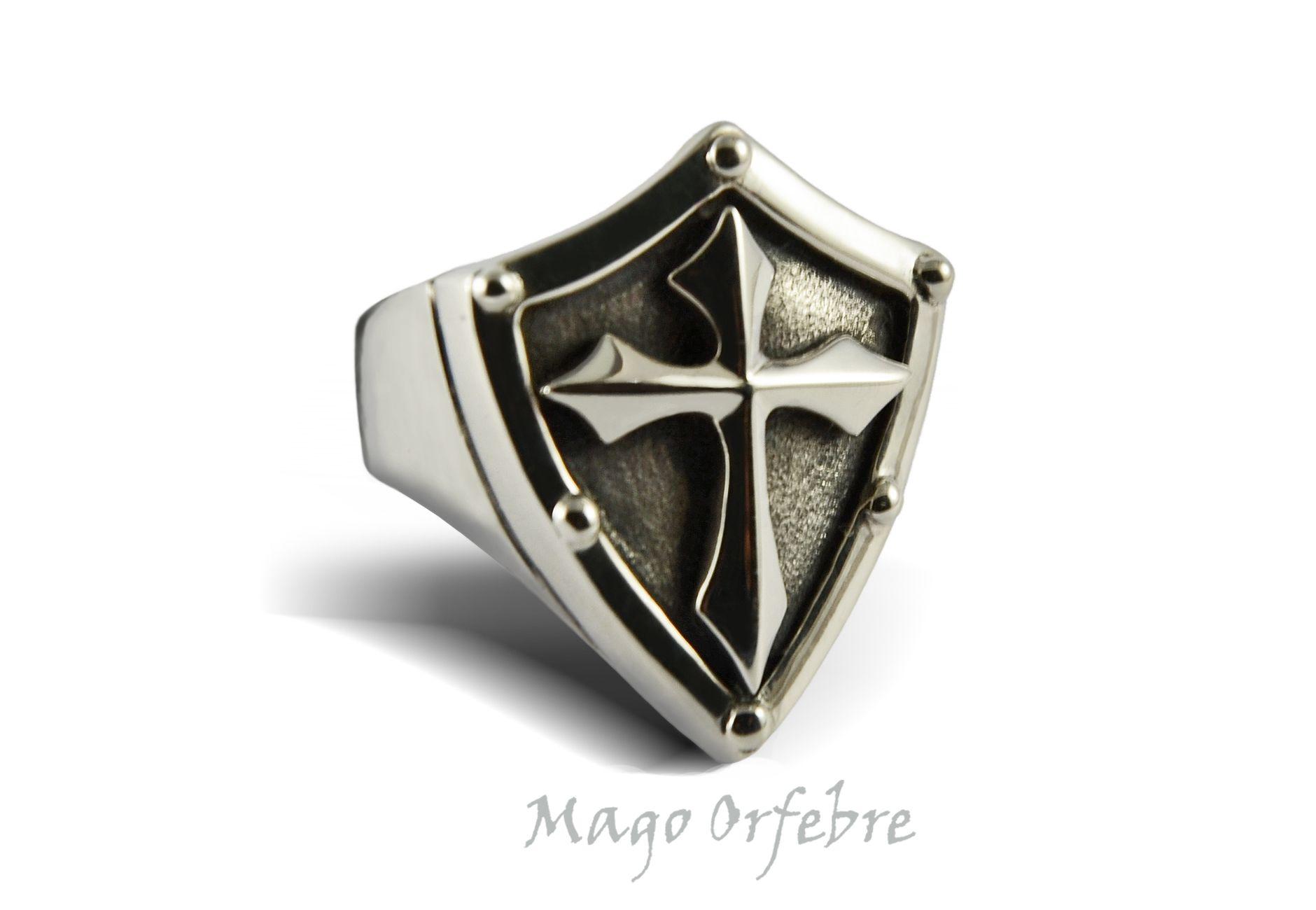 Tattoos for men ring anillo escudo hecho en plata  mago orfebre  リング