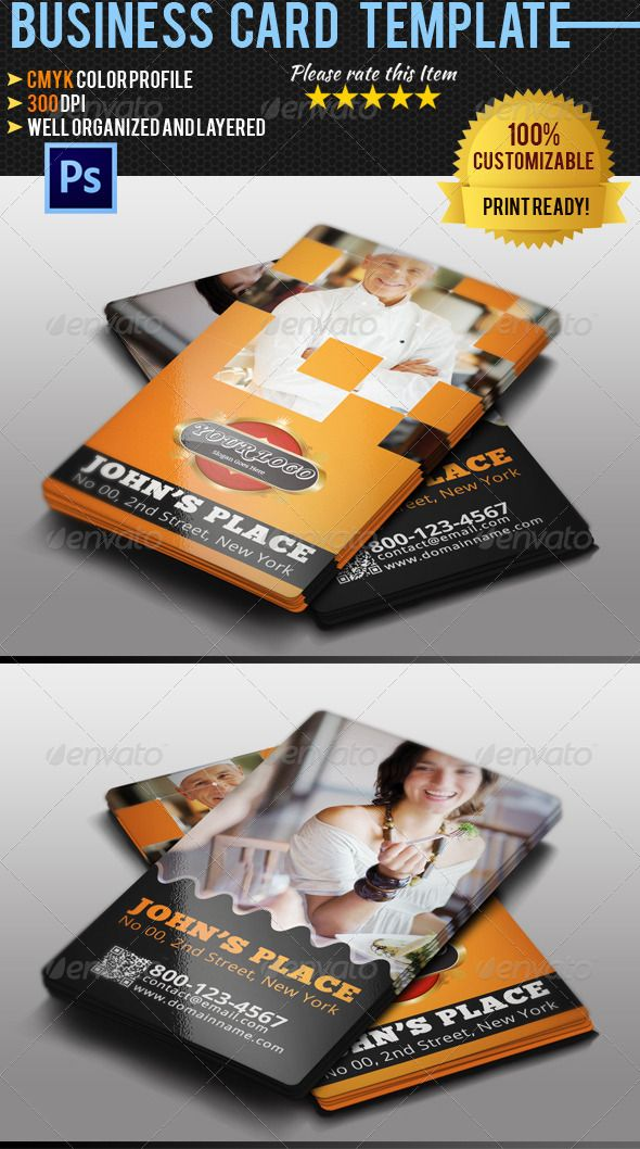 Restaurant Business Card Photoshop PSD Creative Cafe O Available Here Graphicriver Item 4736134refpxcr