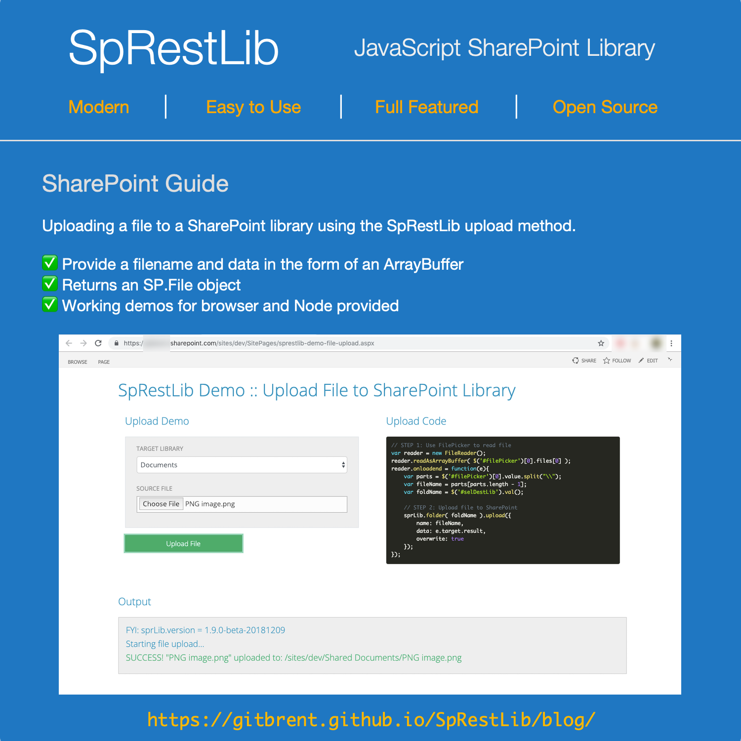 Howto upload a file into a SharePoint Library using
