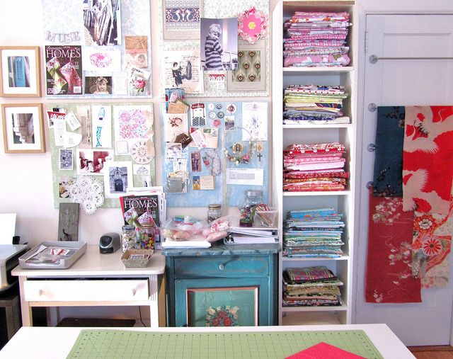 Studio Sewing Room by Nana Said Sew, via Flickr