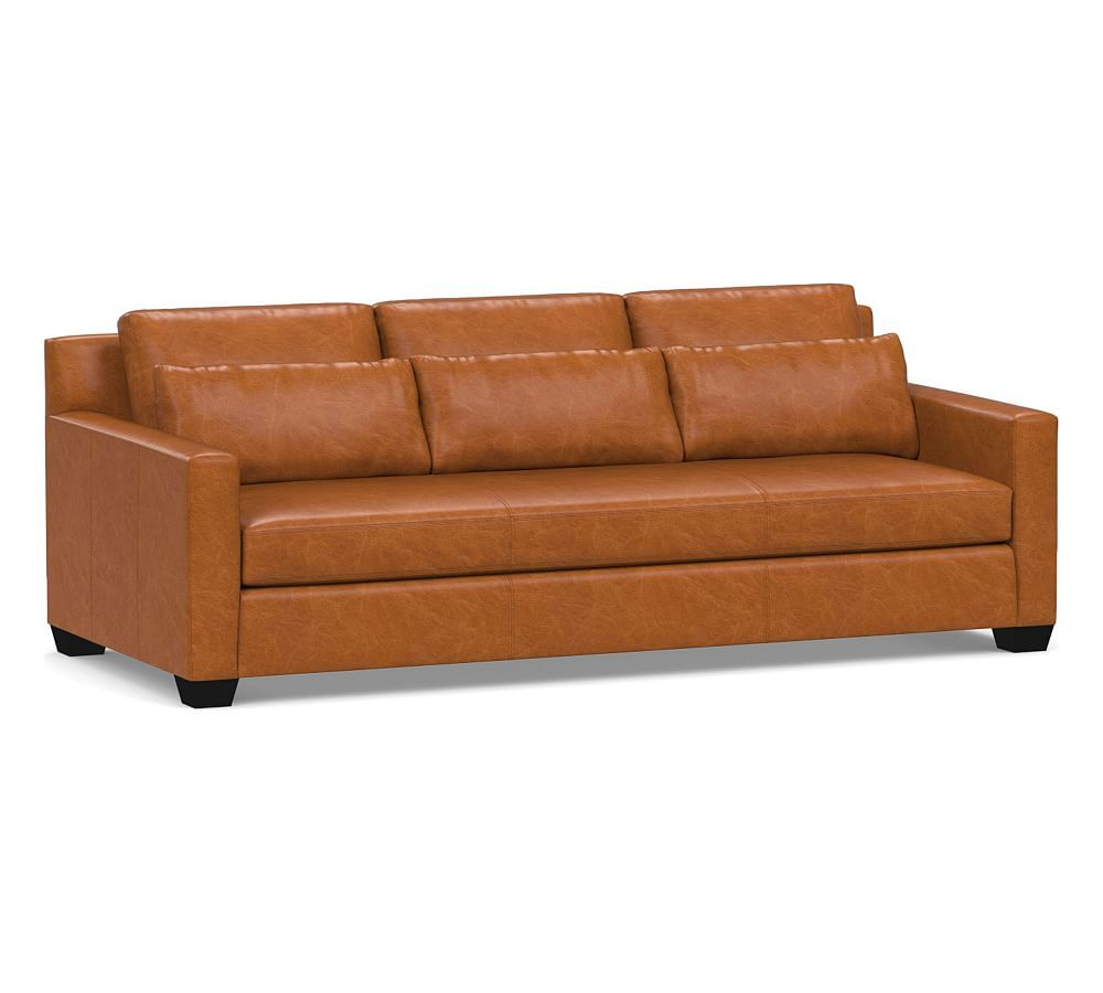 Amazing York Deep Square Arm Leather Sofa Collection Leather Sofa Pabps2019 Chair Design Images Pabps2019Com