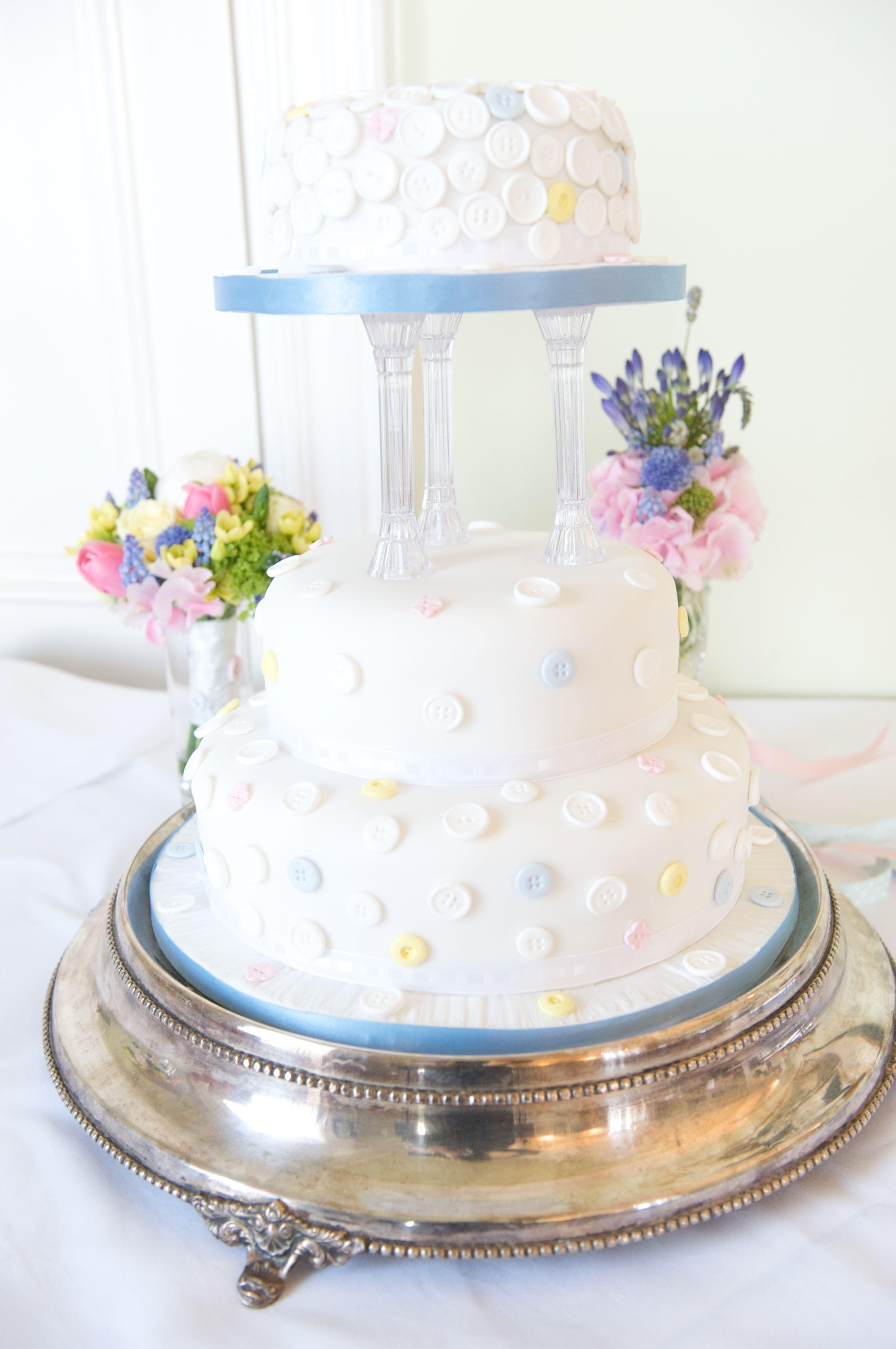 Button Wedding Cake Ice Cream Colours Wedding St Julians Club ...