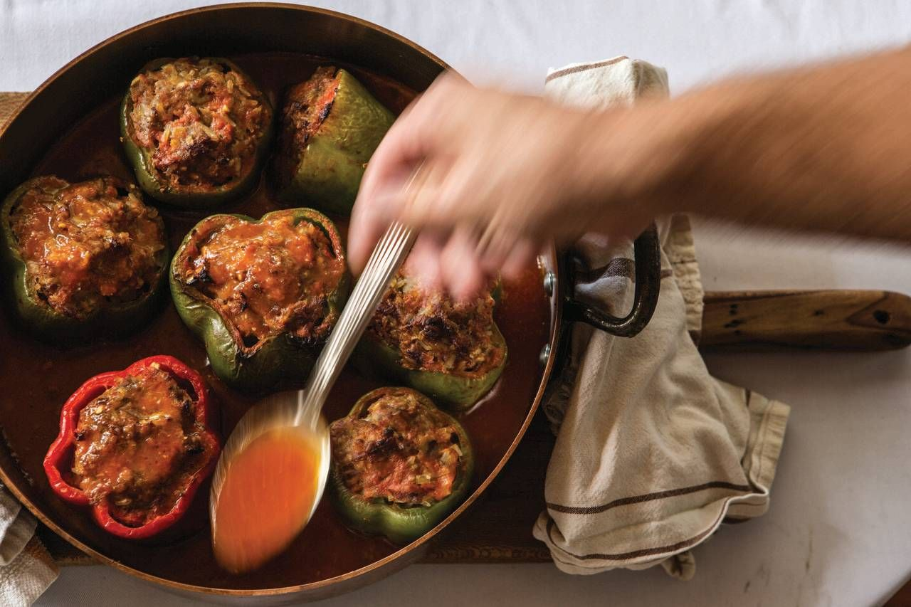 Big Easy Comfort Food Made Easier John Besh Recipes Stuffed Peppers Easy Comfort Food