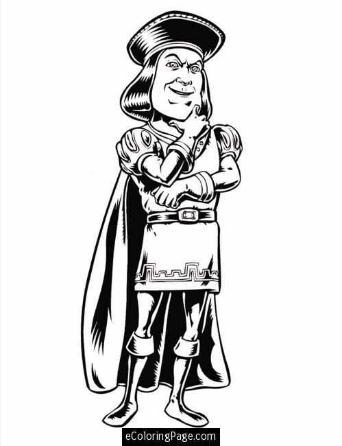 Shrek Coloring Pages To Print Click Here To Print Lord Farquaad Coloring Pages Shrek