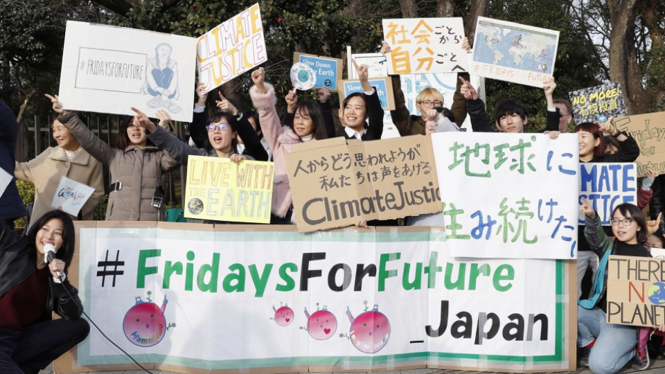 Students Calling For Action To Address Climate Change Take To The Streets Before Japan S Diet Building In Central Tokyo Joining Climate Change Japan Climates