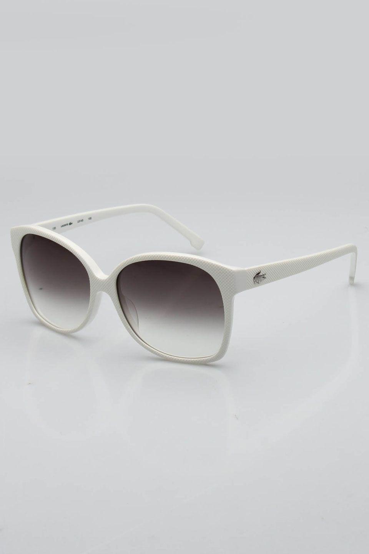 67eaedfc63d10 Lacoste Unisex Aaron Sunglasses In White