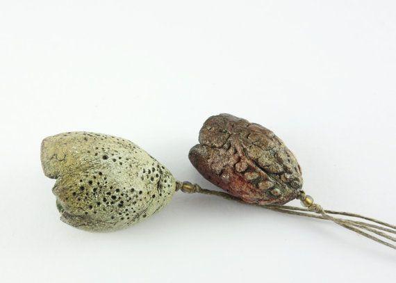 Artisan Ceramic Porcelain Beads Pods by greybirdstudio on Etsy, £30.00