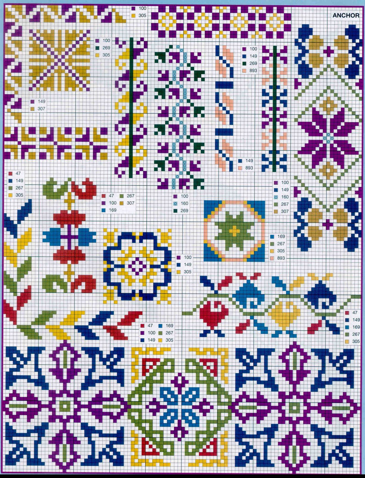 Geometric cross stitch patterns pinterest