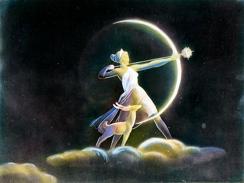 lady archer and the crescent moon....love...
