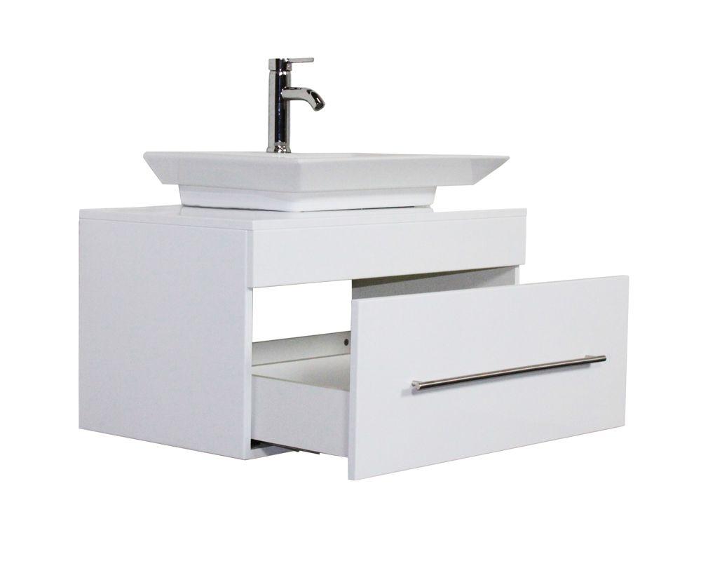 Badmobel Pegasus Weiss Hochglanz Mit Aufsatzwaschbecken Aufsatzwaschbecken Unterschrank Hochglanz