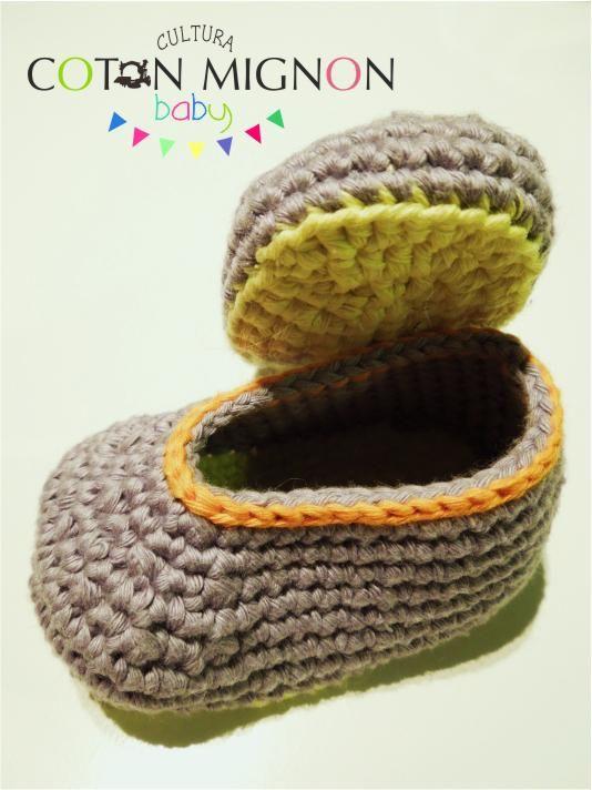 Tutorial: Zapatitos básicos en ganchillo para bebé   Zapatos de bebé ...