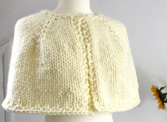 Knit Cape PATTERN knitting pattern knitted cape pattern   Tejidos ...