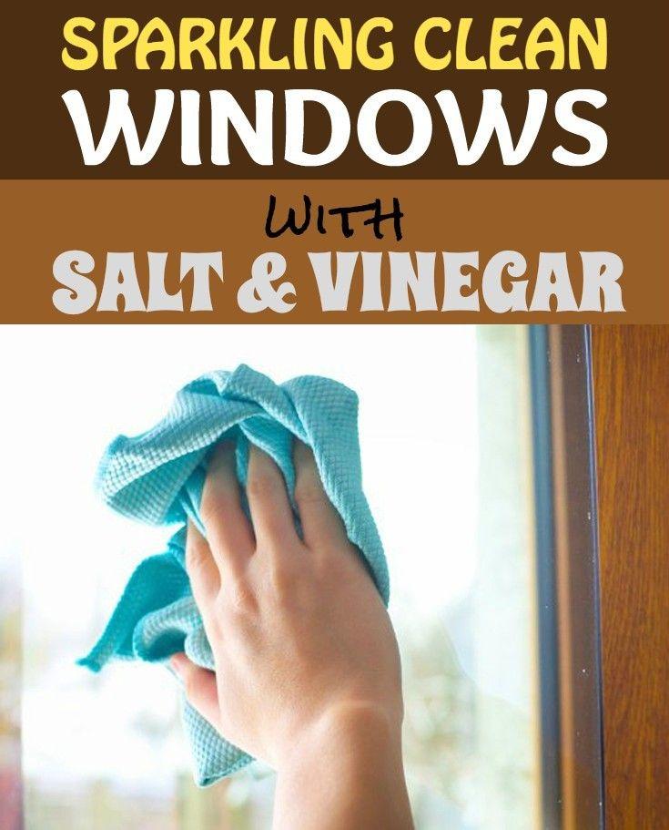 Sparking clean windows with salt and vinegar