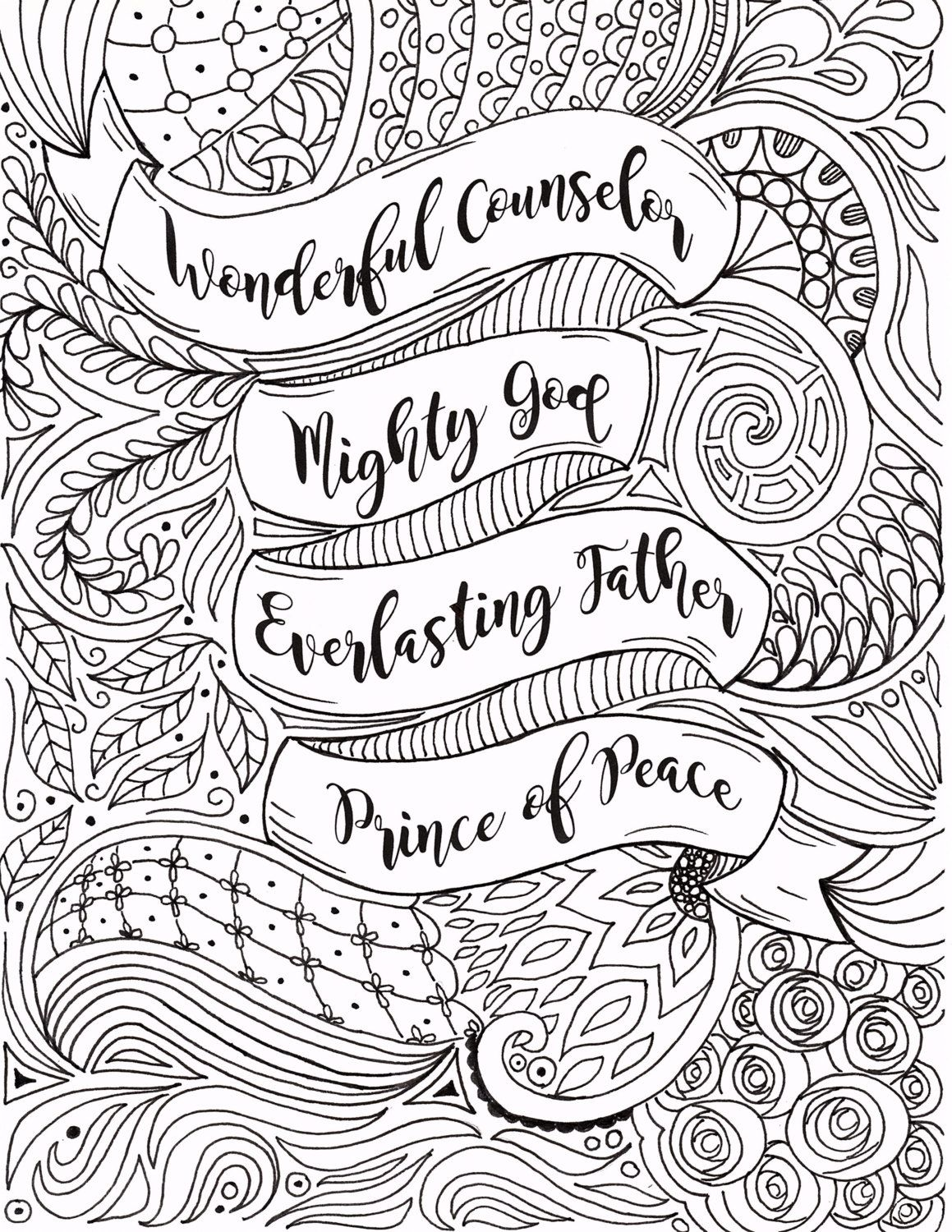 adult christmas coloring page christian by fourthavepenandink