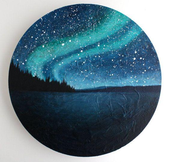northern lights circle painting the met gala pinterest