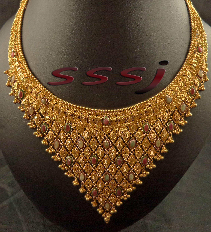 normal design gold necklace | latest gold necklace | Pinterest ...